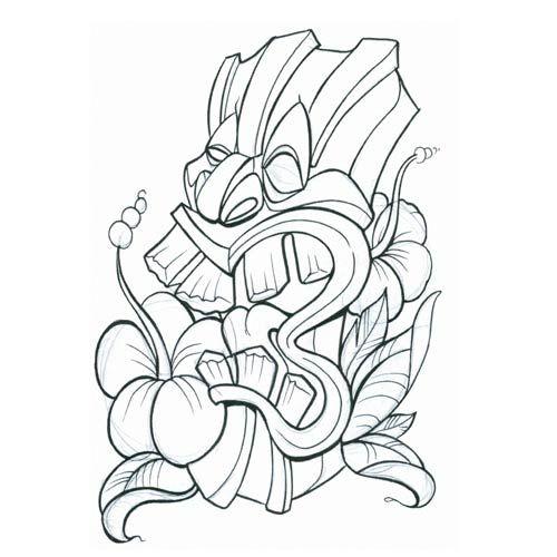 tiki-mask | Tiki tattoos | Pinterest | Design, Tiki mask and Masks