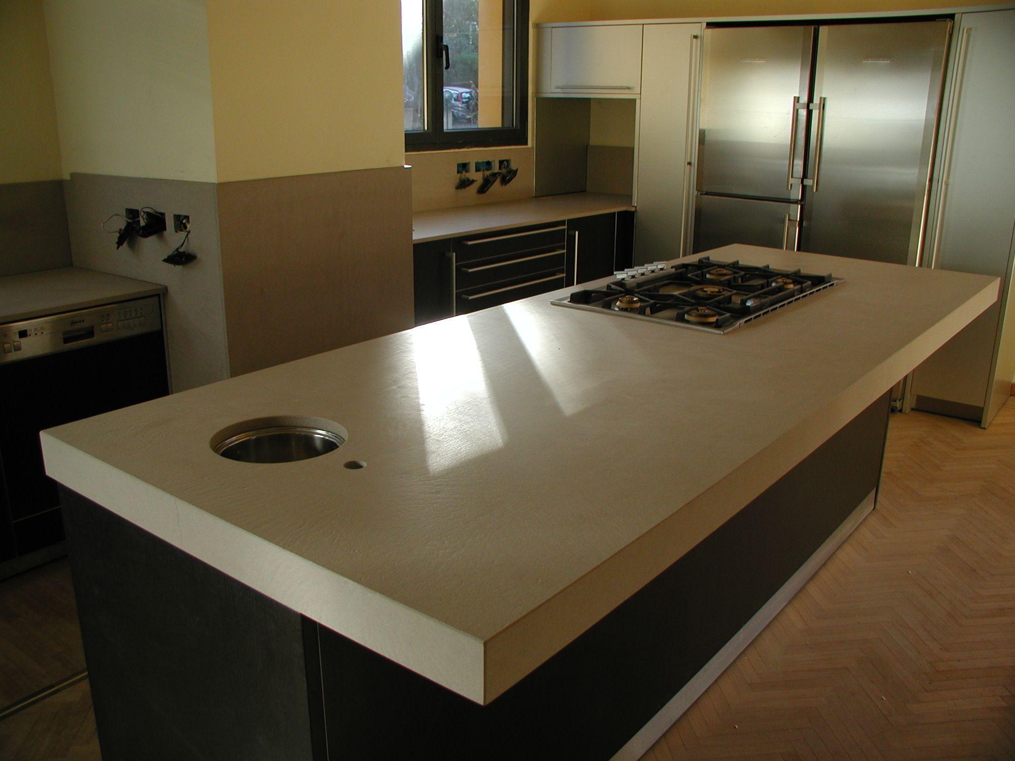 Top cucina Bulthaup in quarzo vanilla Stoneitalia ...