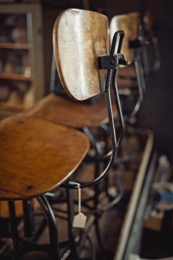 Antique Vintage Industrial Stools 3 Stuhl Design