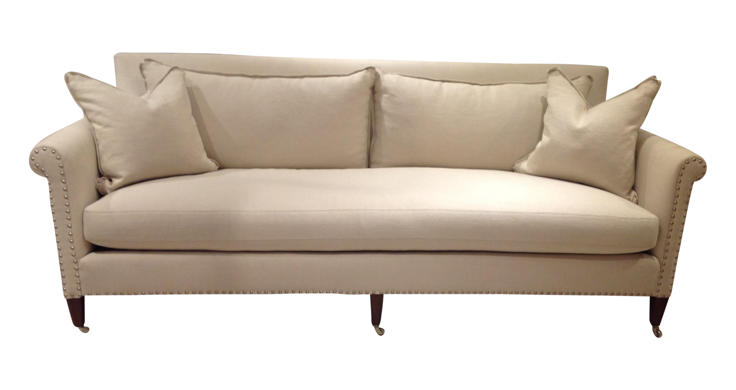 Lillian August Paris Linen Sofa On Chairish Com 87 0ʺw 39 0ʺd