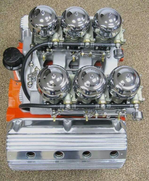 Chrysler Crate Motors For Sale: Hemi With Six Single Barrels...