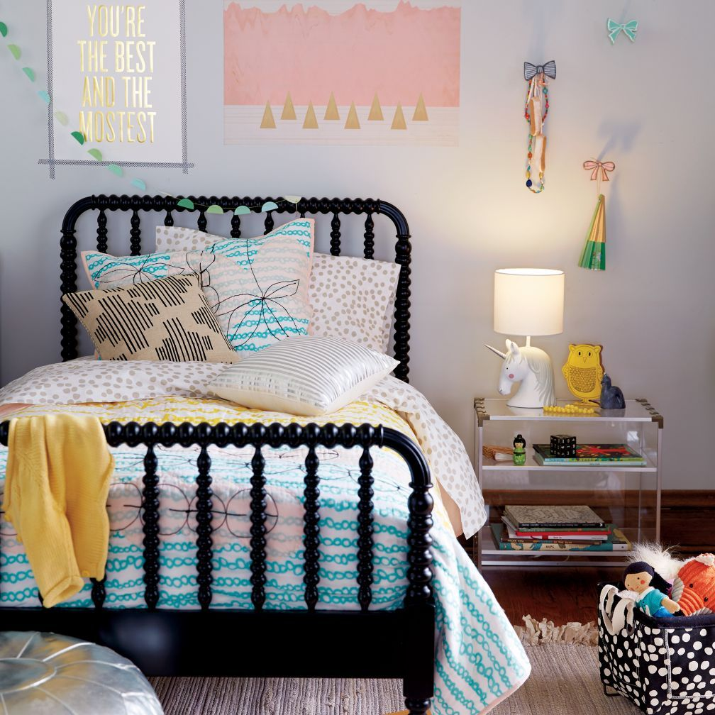Jenny Lind Kids Bed Black Crate And Barrel Black Bedding