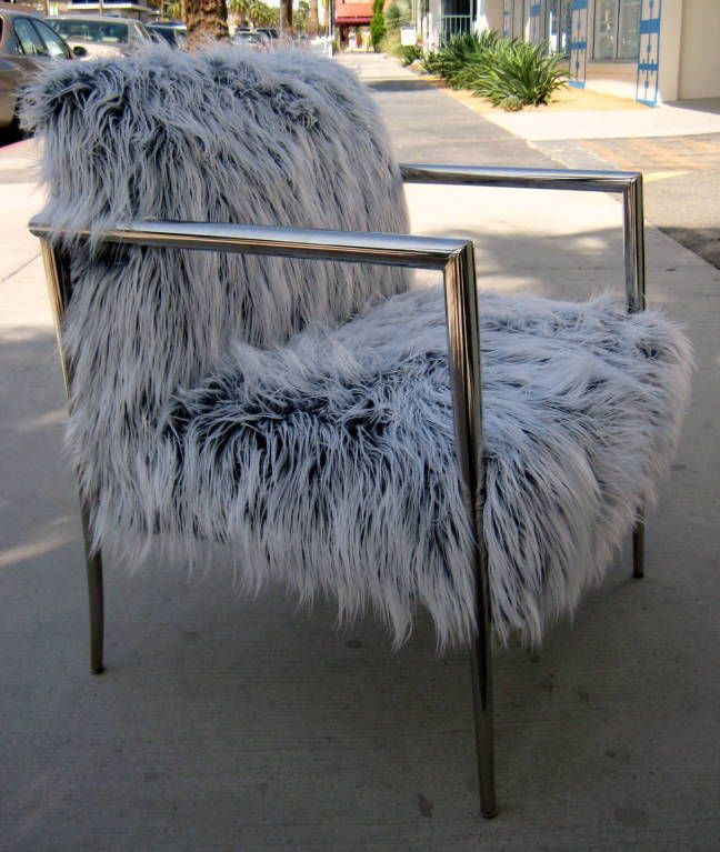 Faux Fur Covered Chair