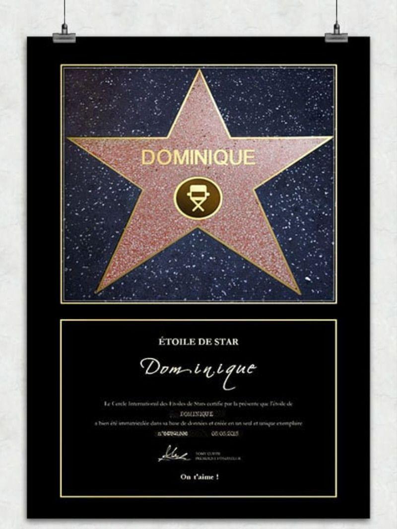 Poster Personnalisa C Etoile De Star Idee Cadeau Homme 30 Ans Idee Cadeau Homme Cadeau 30 Ans Homme