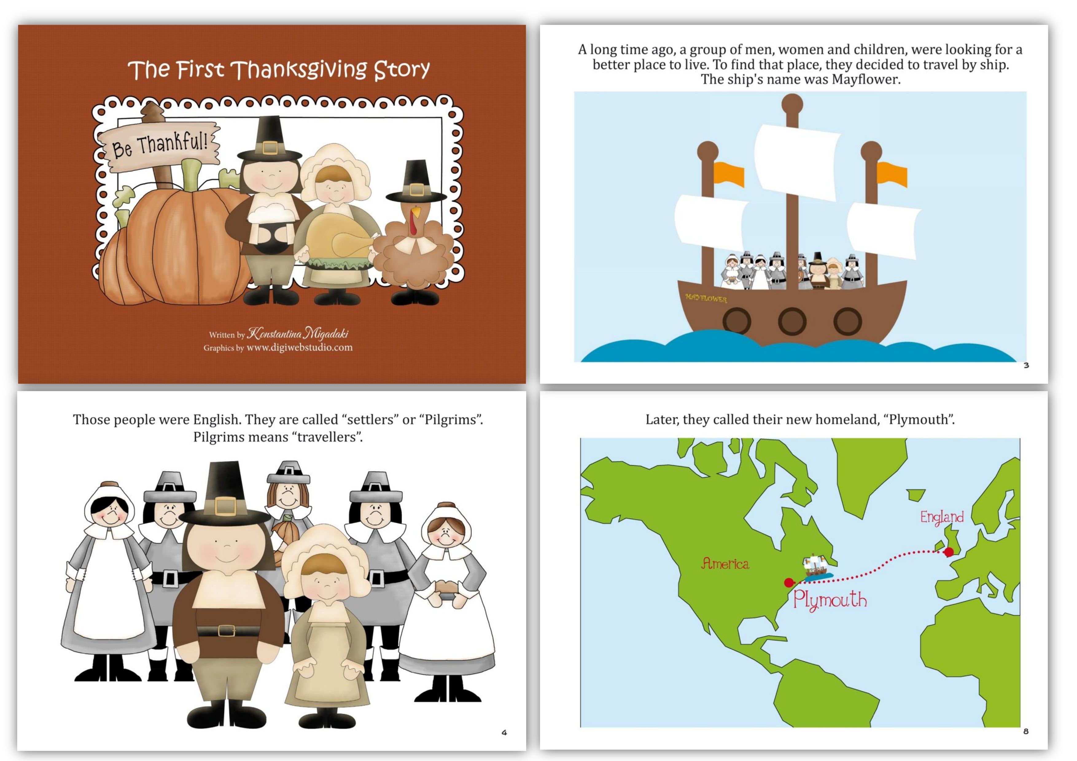 The First Thanksgiving Story With Printables Worksheets And Crafts For Children In Pre K A Homeschool Social Studies Kindergarten Social Studies Study History [ 2479 x 3508 Pixel ]