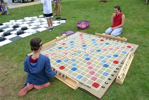 Giant Scrabble A Huge Word Game Diy Yard Games Giant Yard Games