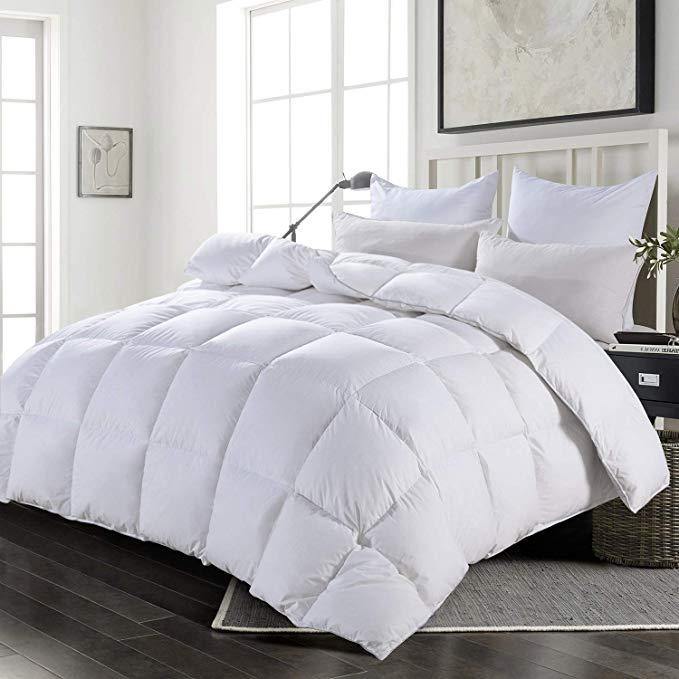 Amazon Com Hombys Luxury White Real California King Down
