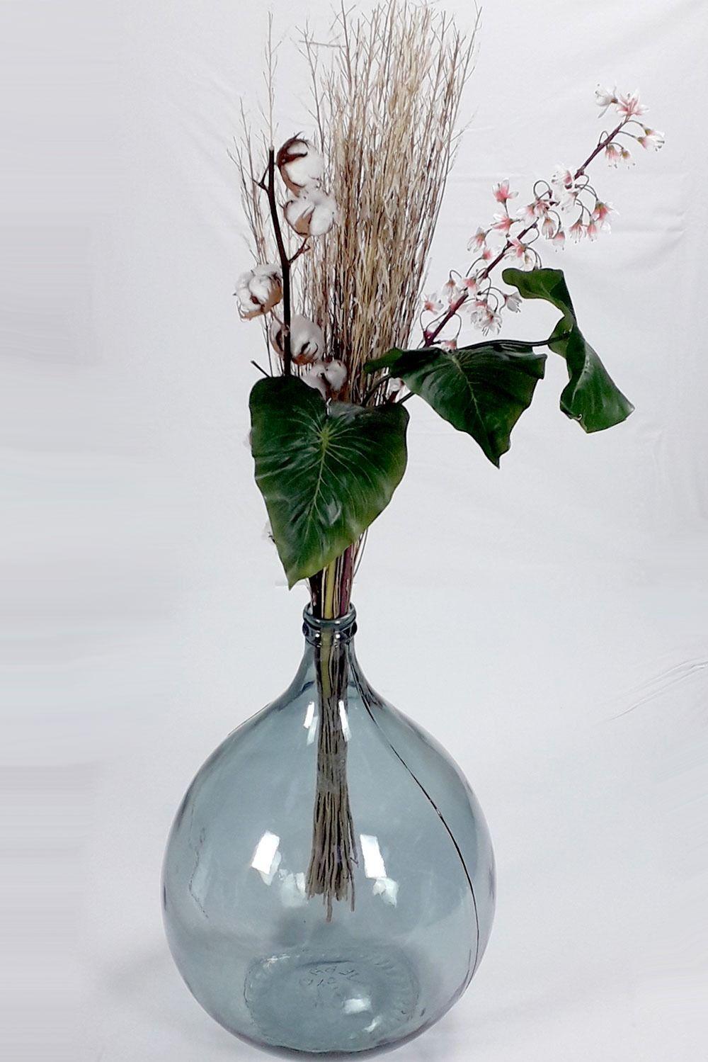 Druppelvormige Vaas Van Transparant Glas Extra Grote Diameter Van 40 Cm Vaas Glas Decoratie