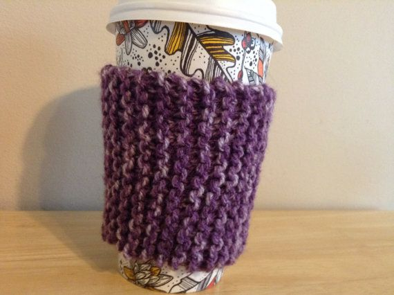 Knitted Coffee Cozy by BraceKnitsEtc on Etsy