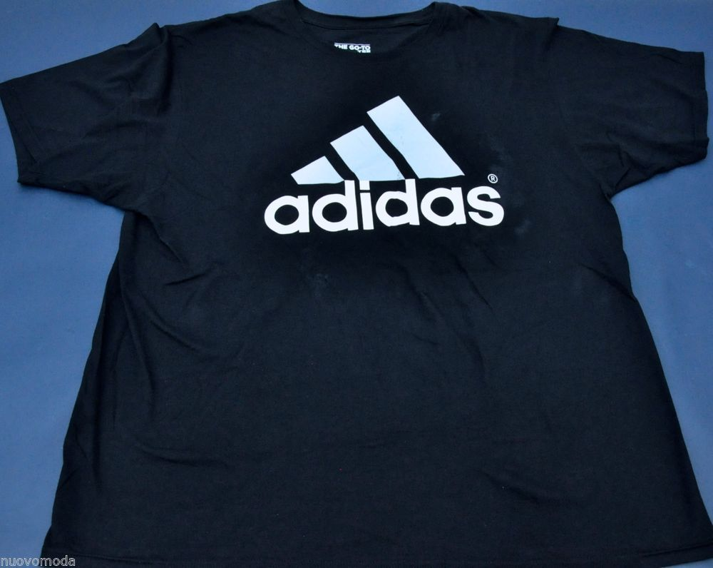 Black t shirt xxl - Mens Adidas Logo Graphic Navy Black White The Go To Tee T Shirt