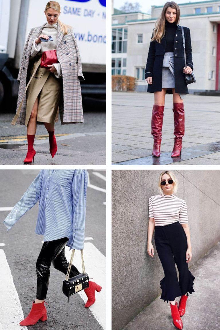 004b5c9983 Como Usar Bota Vermelha  Encontre aqui 29 looks com botas vermelhas +  tendências de sapatos para o Inverno 2018!
