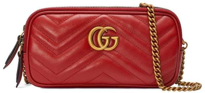 2cbb9aeaa9443a Gucci GG Marmont Mini Chain Bag | adornment* | Gucci shoulder bag ...