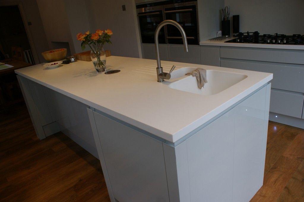 White Kitchen Grey Worktop white corian worktop grey kitchen - google search | extension