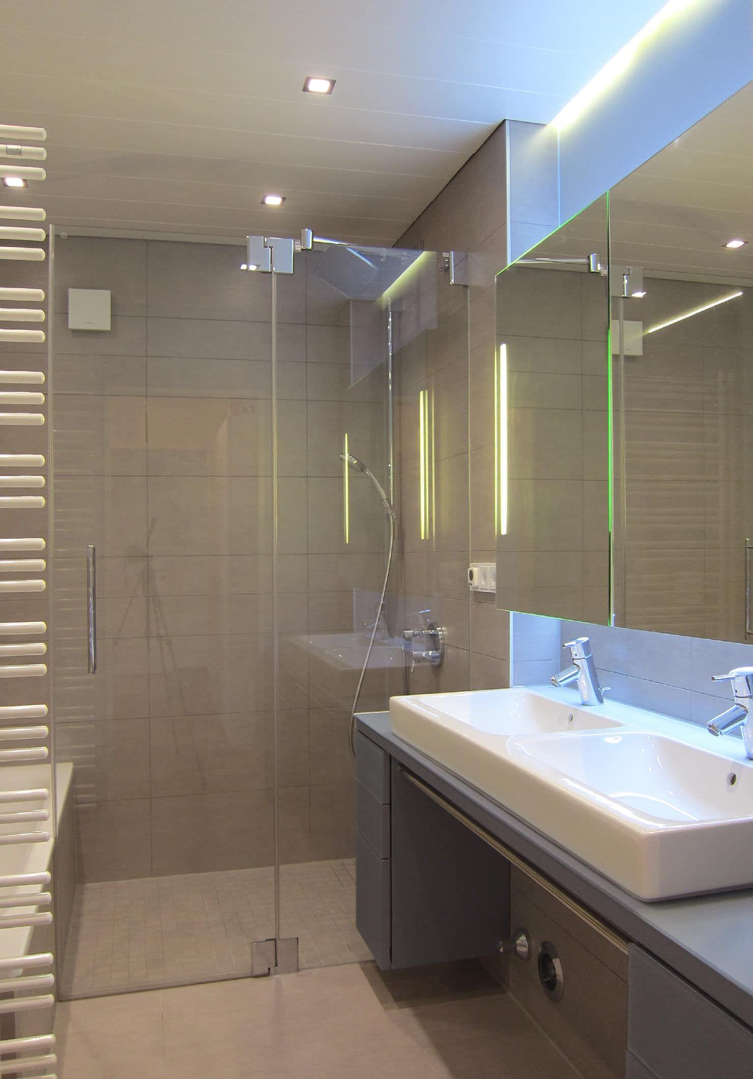 Home-office-innenarchitektur inspiration bodenbündige dusche moderne badezimmer von hansen innenarchitektur