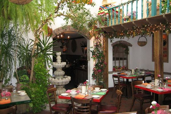 Good Mexico   A Glass Roof Over ThisMexican Courtyard Allows You To Dine Among  Giant Fernsand Lush Tropical Plants