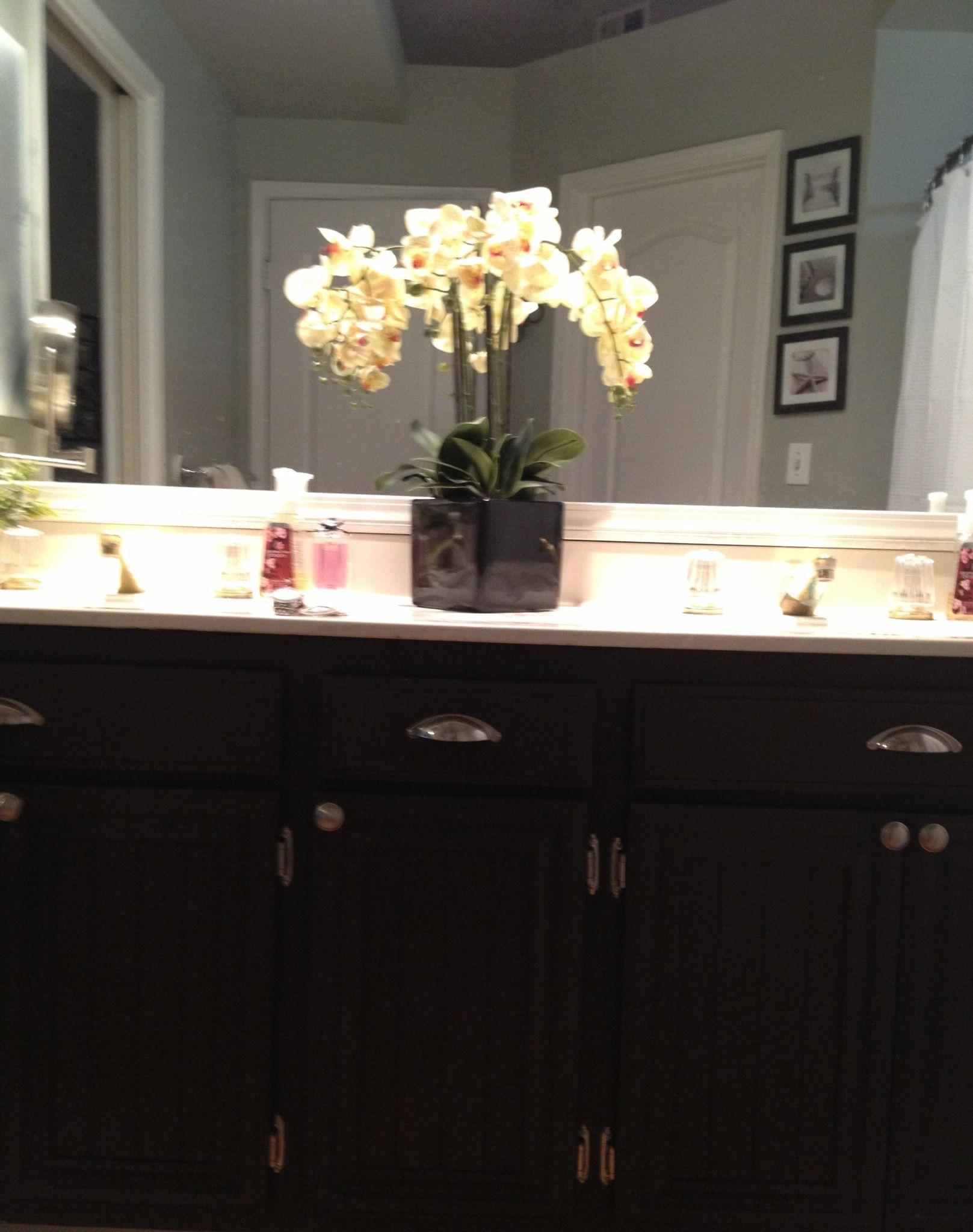 Bathroom cabinets refinished Cabinet Paint color Valspar