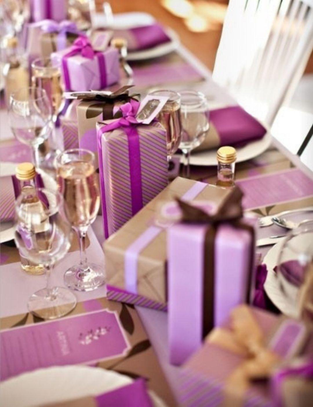 Christmas Table Purple Table Settings Purple Table Purple Christmas