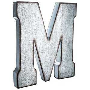 "Galvanized Metal Initials Large 20"" Industrial Galvanized Metal Letter Wall Decor Xxl"