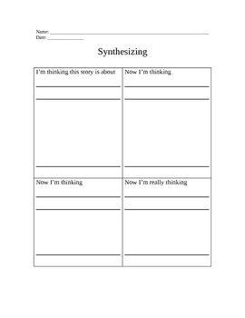 003 Synthesizing Graphic Organizer Graphic organizers