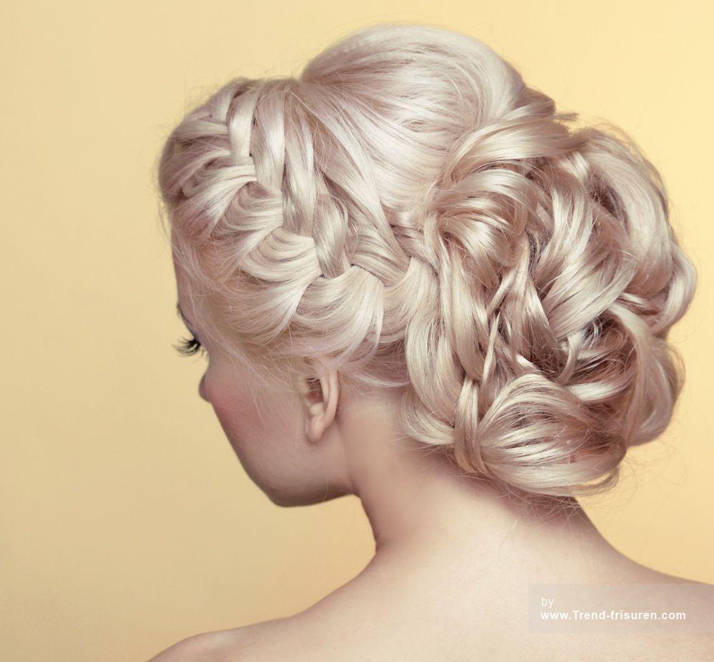 Hochzeit Frisuren Mittellange Haare: Hochsteckfrisuren Blond