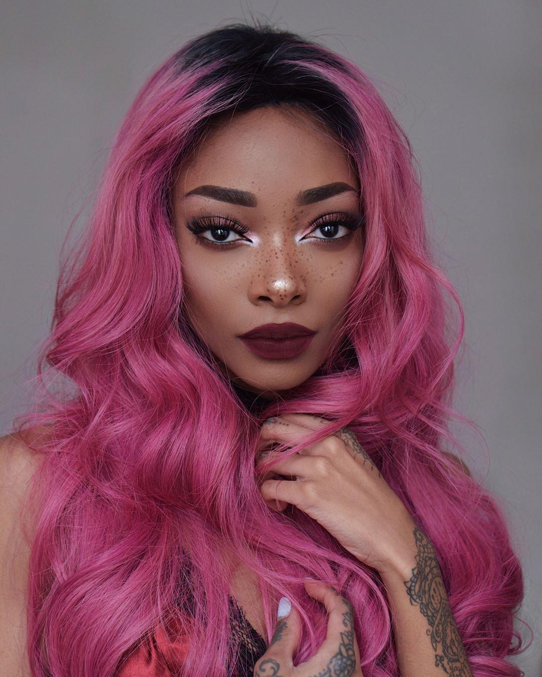 11 2k Likes 34 Comments Nyane Lebajoa Nyanelebajoa On Instagram Hair Colour Sext Chocolate Cherry By Limec Cherry Hair Hair Styles Pastel Pink Hair