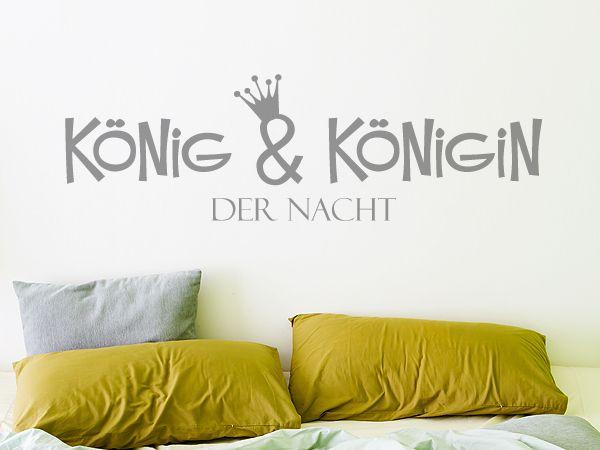 Wandtattoo fürs Schlafzimmer König \ Königin der Nacht Wanddeko - wandtattoos fürs schlafzimmer