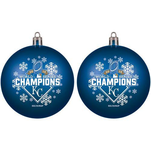 Kansas City Royals 2015 World Series Champions Shatter Proof Ornament Two  Pack - Kansas City Royals 2015 World Series Champions Shatter Proof