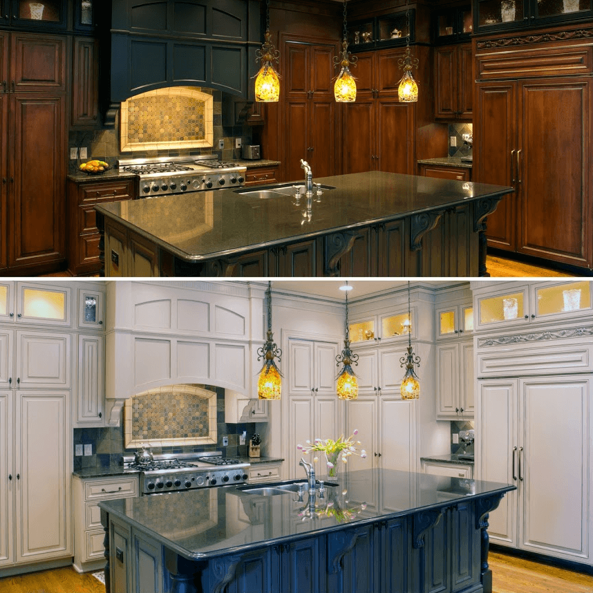 Refinishing Wood Kitchen Cabinets in 2020 (With images ...