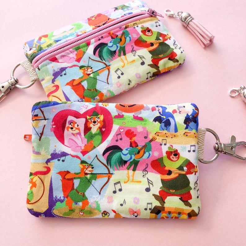 Fox coin purse small makeup bag stitch marker holder zipper pouch notions pouch