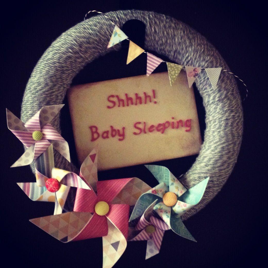 Shhh baby sleeping wreath