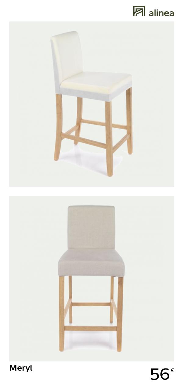 alinea : meryl chaise haute pour plan de travail h66cm