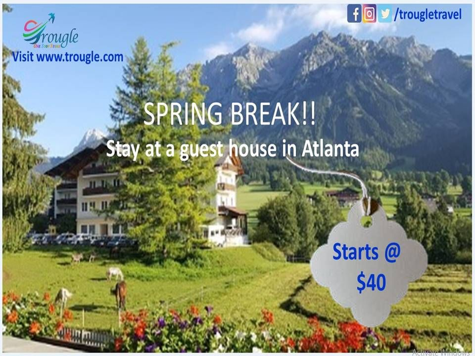 Spring Break!! For those of you travelling this week