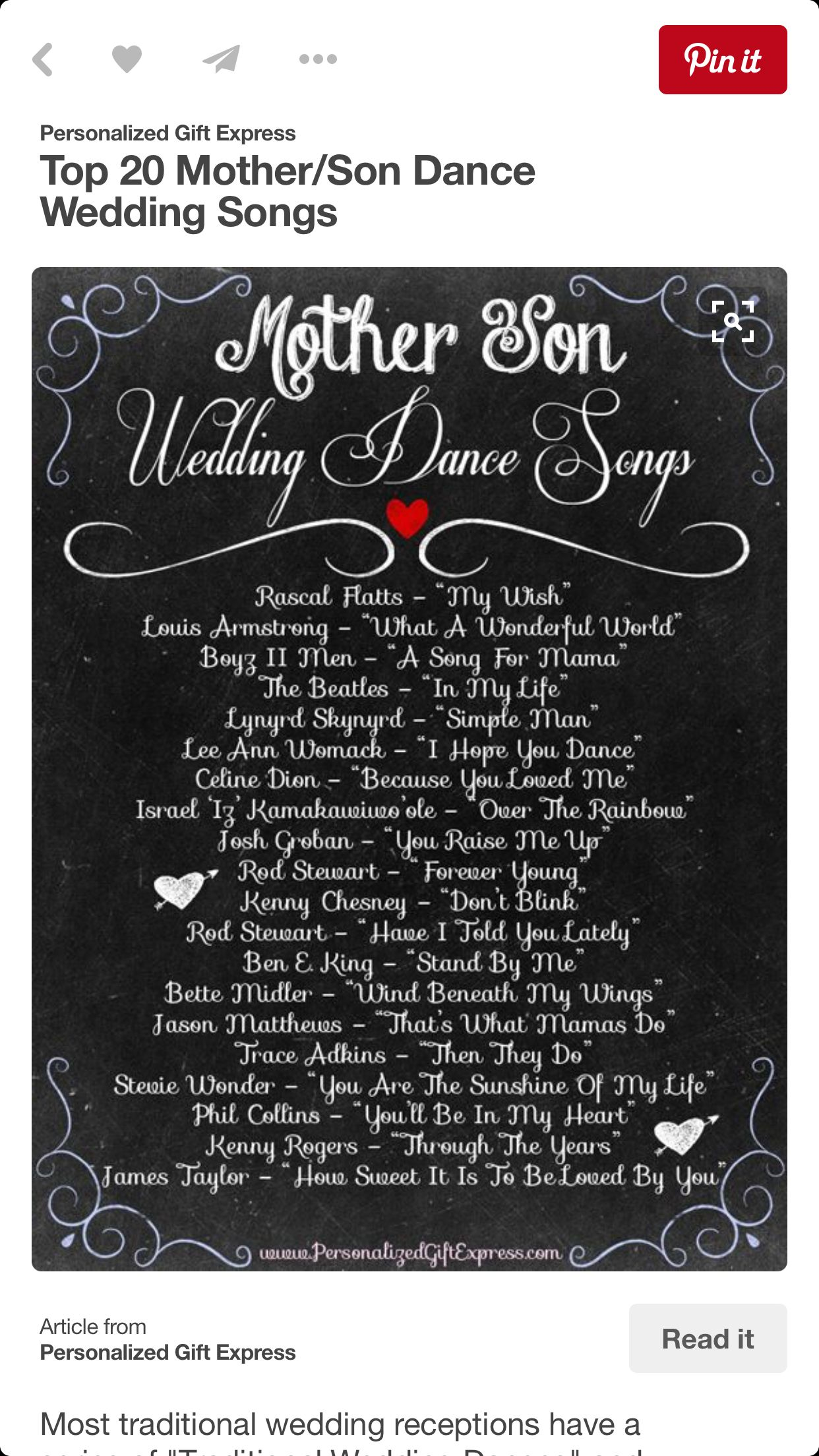 Mother And Son Dance Wedding