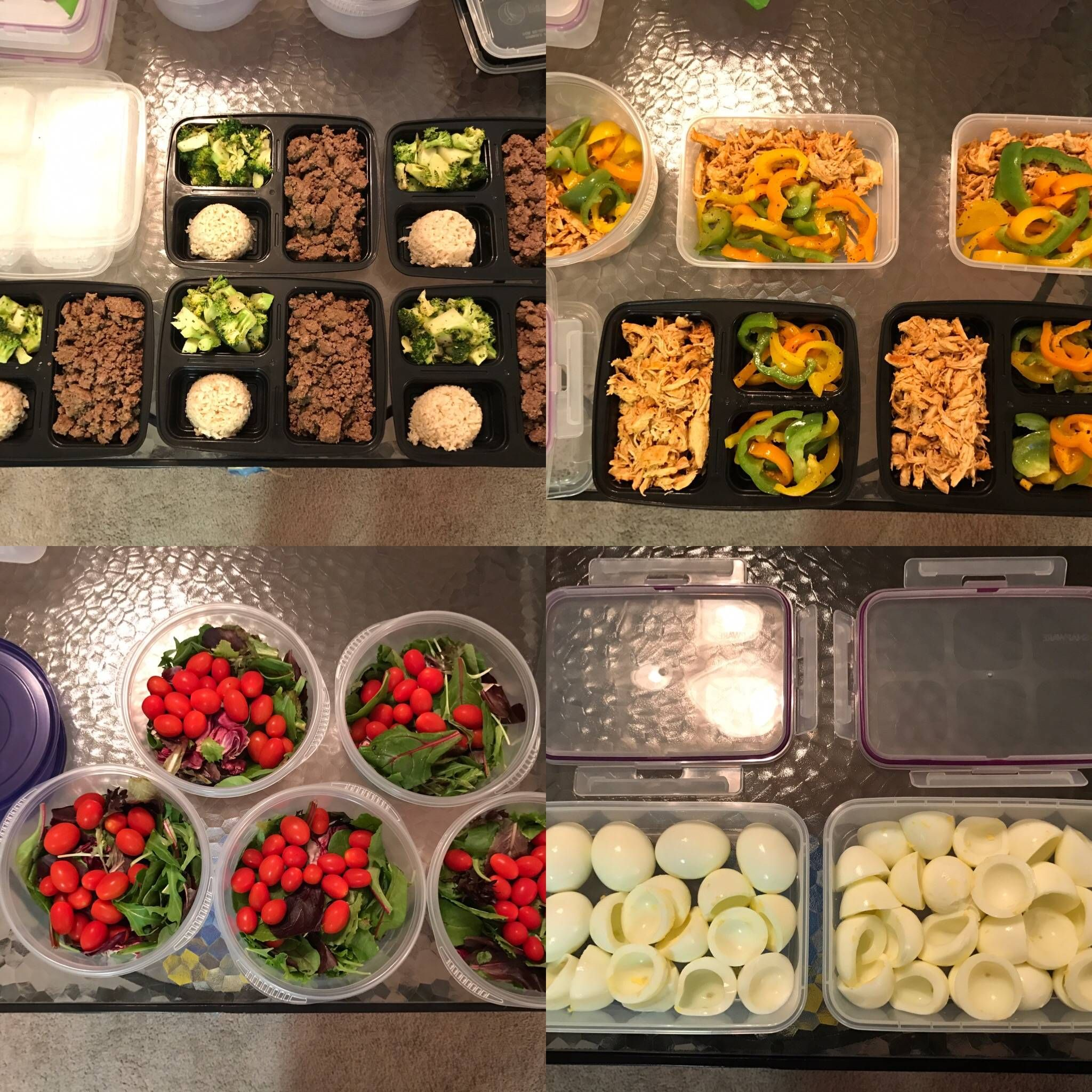 First 5day Meal Prep for 2500 calories per day...