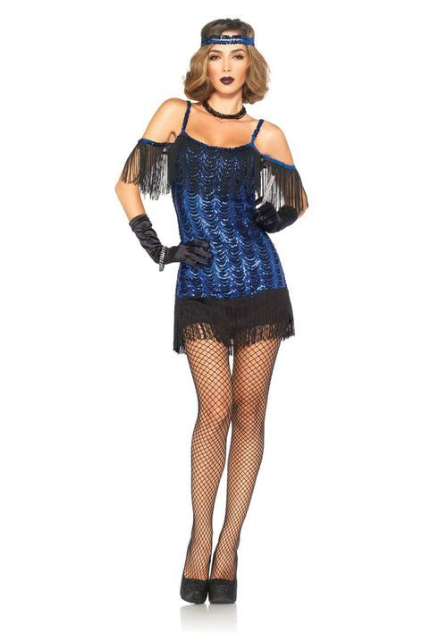 Blue Flapper Dress Flapper Costume Flapper Girl Costumes