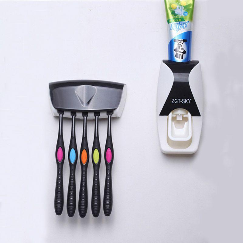1 set Fashion Automatische Tandpasta Dispenser Familie Houder 5