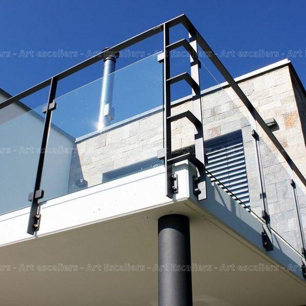 garde corps horizontal exterieur acier laque verre 02. Black Bedroom Furniture Sets. Home Design Ideas