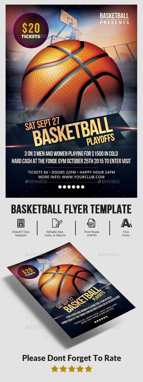 Basketball Game Flyer Template Flyer Template Flyer Basketball