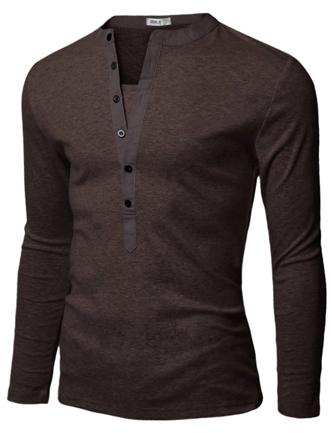 Doublju Mens Basic Slim Fit Long Sleeve Henley Shirts at Amazon Men's  Clothing store: