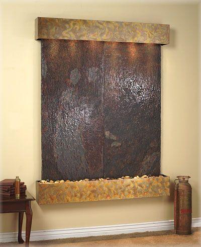 indoor wall water fountains Fuentes, Fuentes de agua y Decorar mi casa - cascada de pared