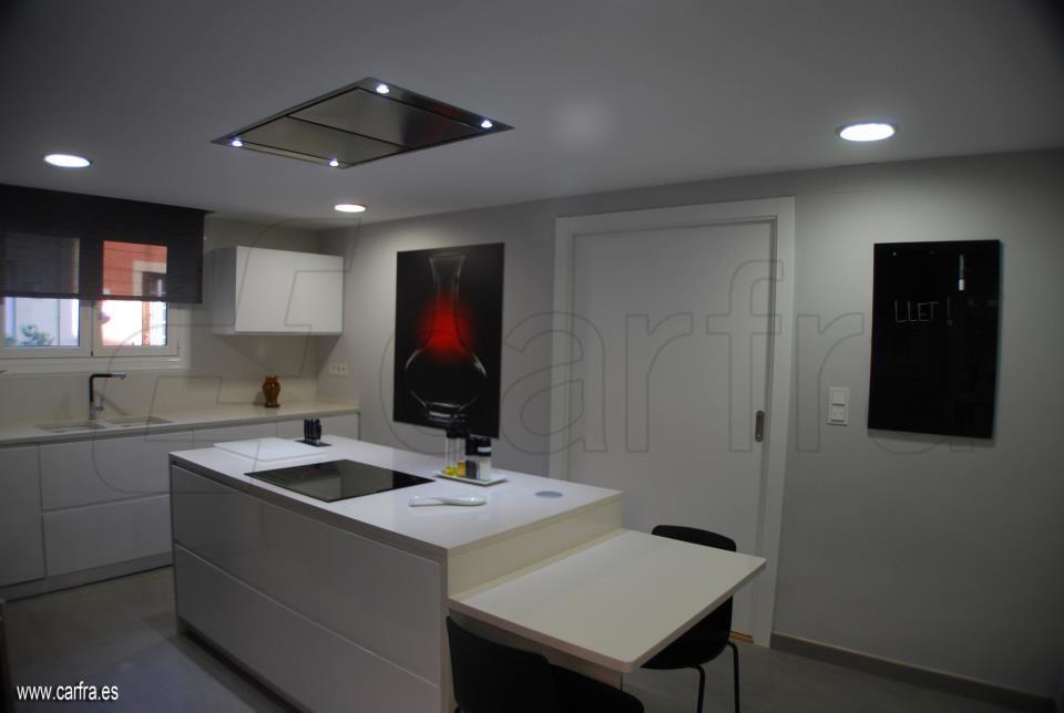 Campana extractora de techo pando e 220 campanas de - Campanas de cocina modernas ...
