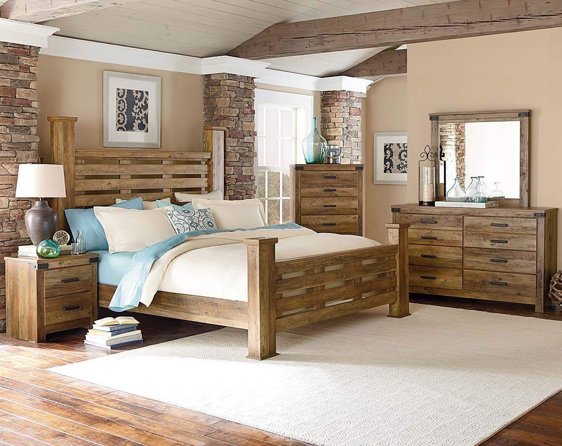 Natural Wood Bedroom Furniture  Now you may not learn just how to create the modern bedroom setting that is perfect and y Casual Rugged Brown Pine Montana