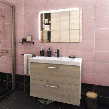 Meuble de salle de bains de 80 à 99, brun   marron, Neo line Leroy