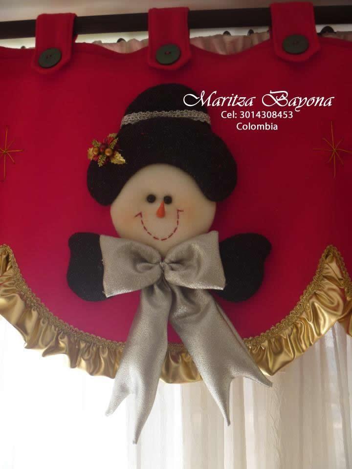Resultado de imagen para cortinas de cocina navideñas Navideña