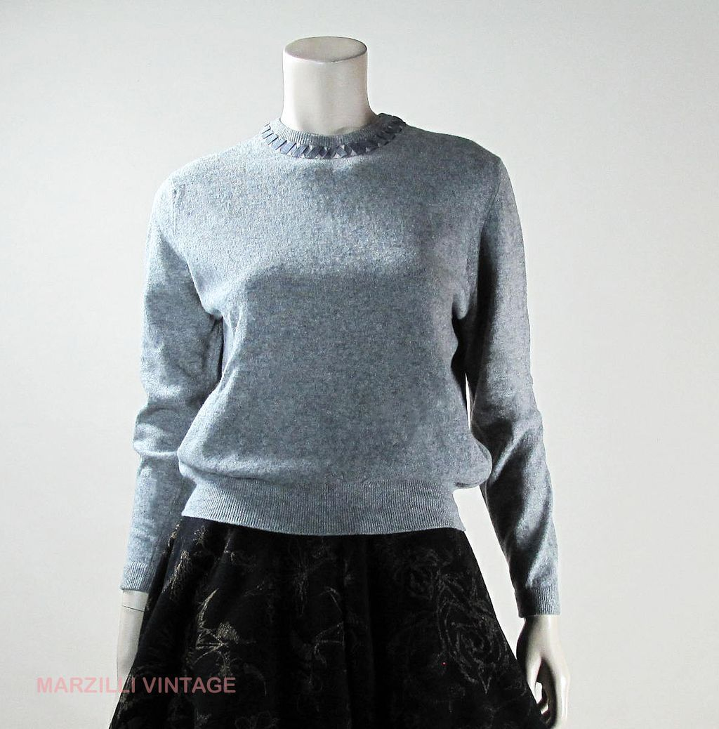 Lovely Pringle...1960's Pringle Heather Grey Cashmere Sweater With ...