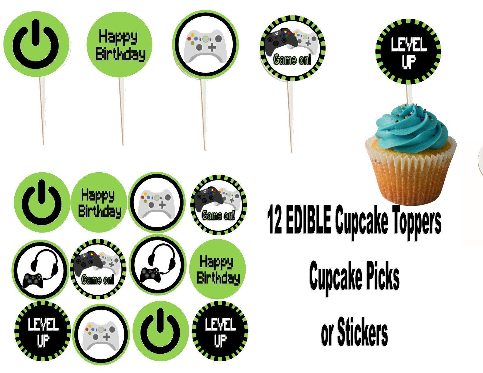 Video Game Edible Cupcake, Cookie, Oreo toppers Edible
