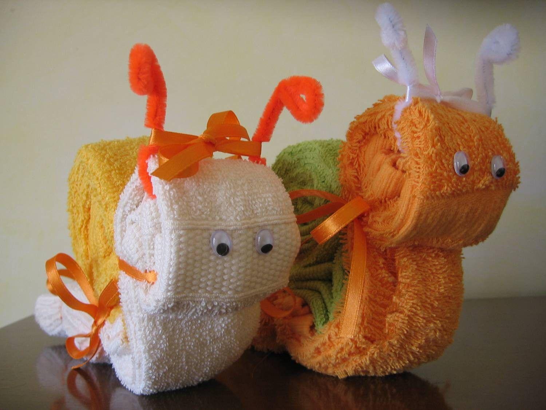 Piegare Gli Asciugamani A Forma Di Animale : A me piace cosi: lumachine con asciugamani baba