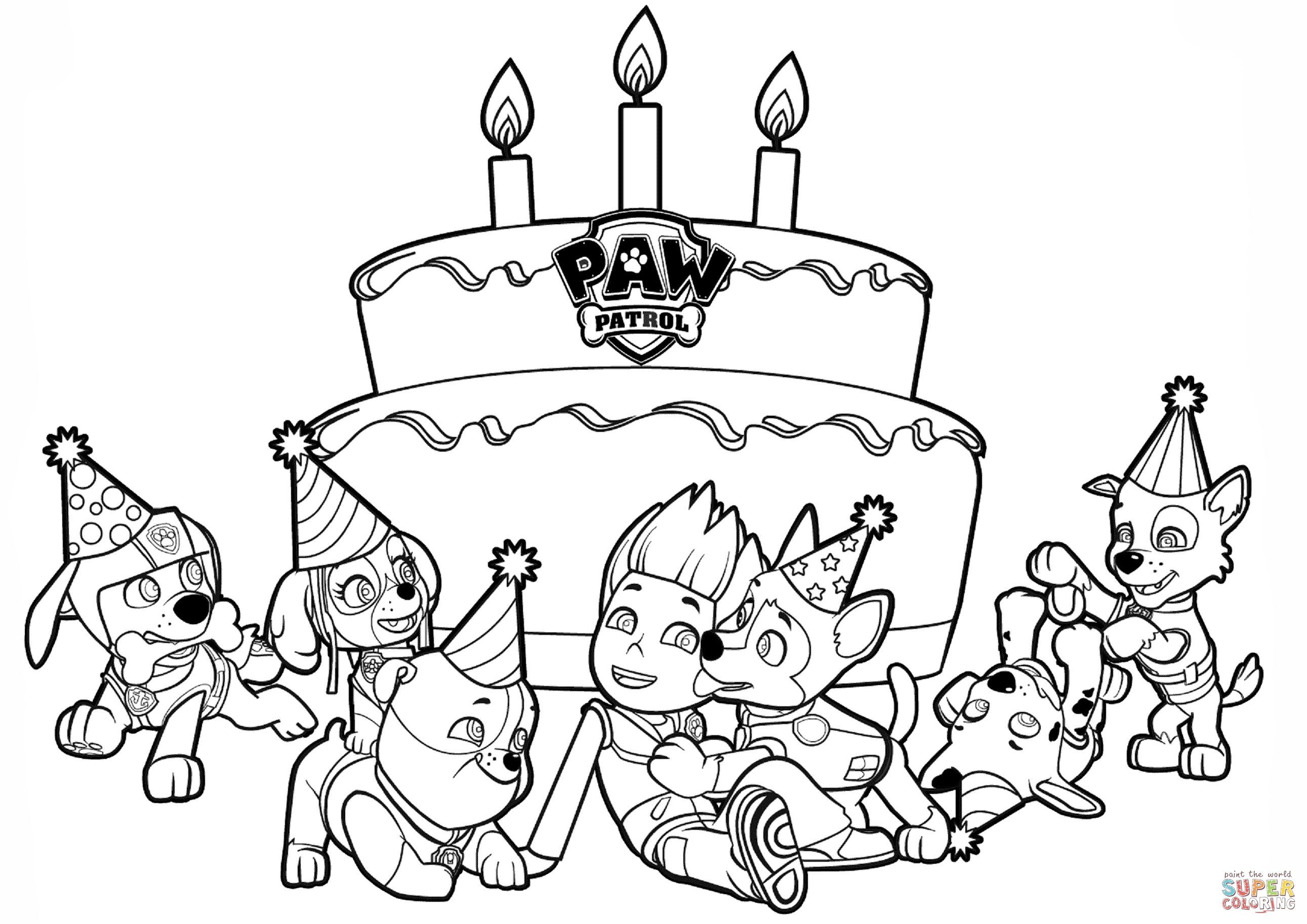 Ryder's Birthday coloring page from PAW Patrol category. Select ...