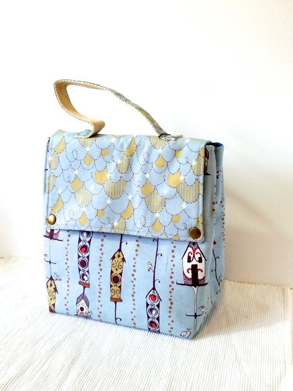 SALE!!! 25% OFF - Insulated Lunch Bag Fabric Lunch Bag