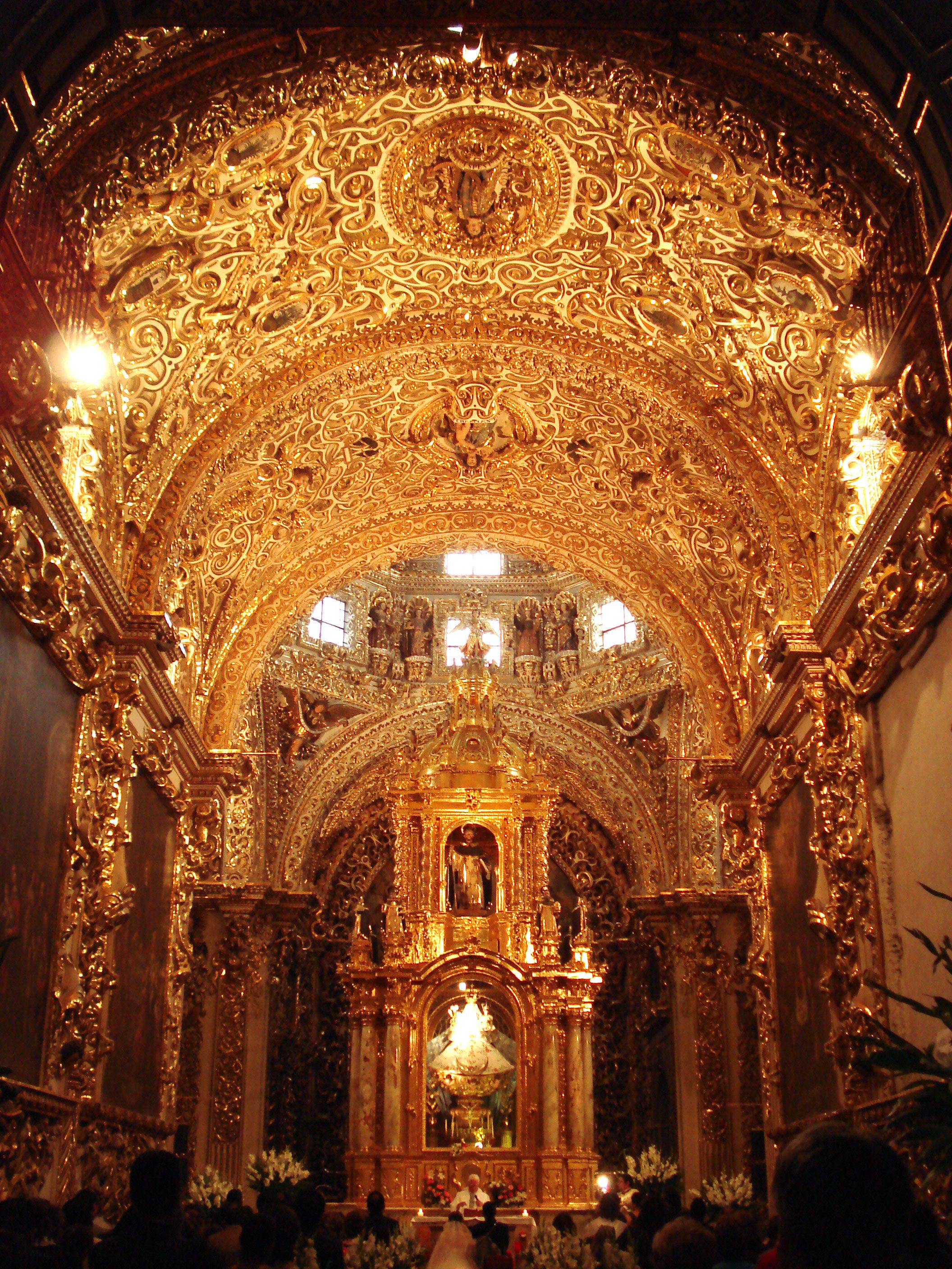Theres That Awesome Mexican Architecture Again Capilla Del Rosario Puebla